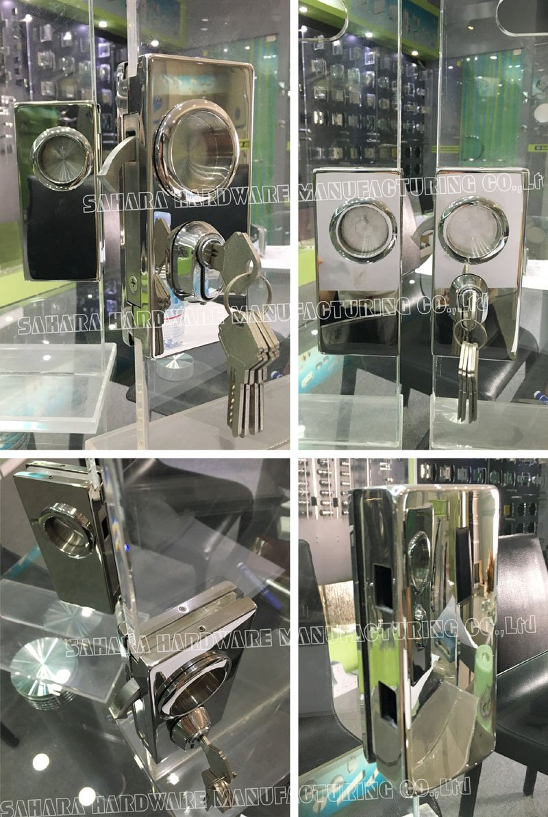 SAHARA Glass HARDWARE stainless steel cover glass door lock supplier for doors-4