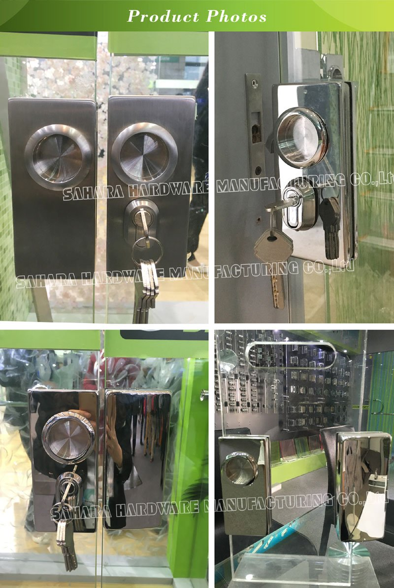 SAHARA Glass HARDWARE stainless steel cover glass door lock supplier for doors-6