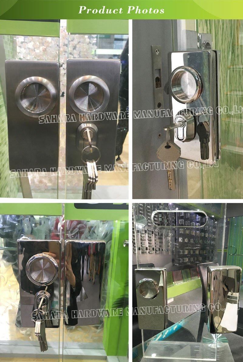 SAHARA Glass HARDWARE stainless steel cover glass door lock supplier for doors