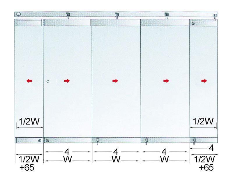 partition frameless system 55mm spacing SAHARA Glass HARDWARE gas lift struts