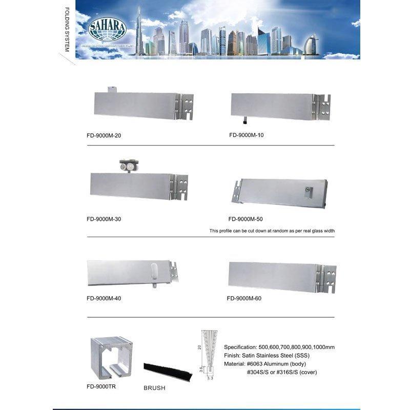 Folding Glass Partition System - FD9000M