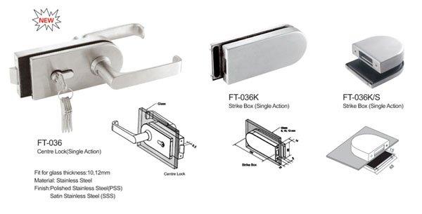 safe bathroom glass door lock brass factory direct supply for doors-5