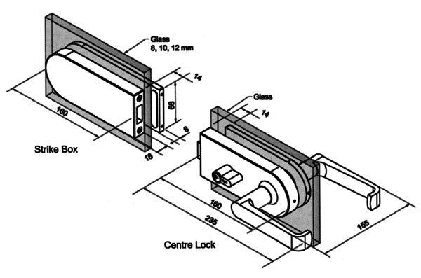 safe bathroom glass door lock brass factory direct supply for doors-11