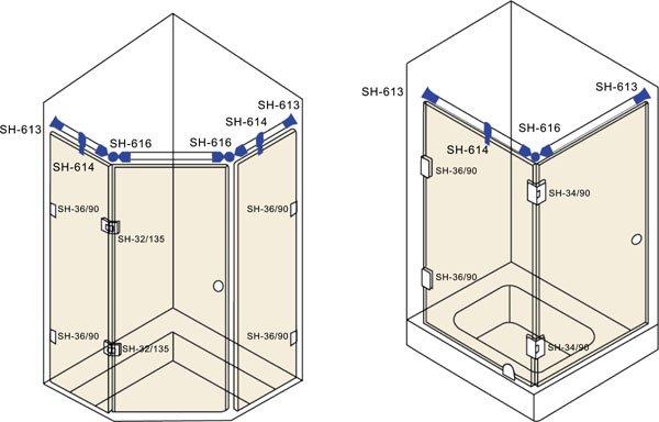 SAHARA Glass HARDWARE top quality glass corner connectors wholesale for bathroom-1