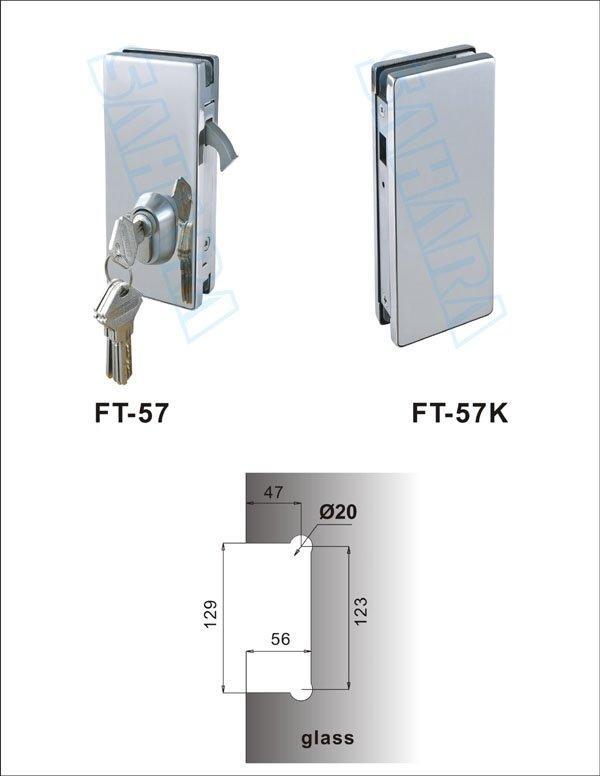 safe glass door lock brass manufacturer for office-1