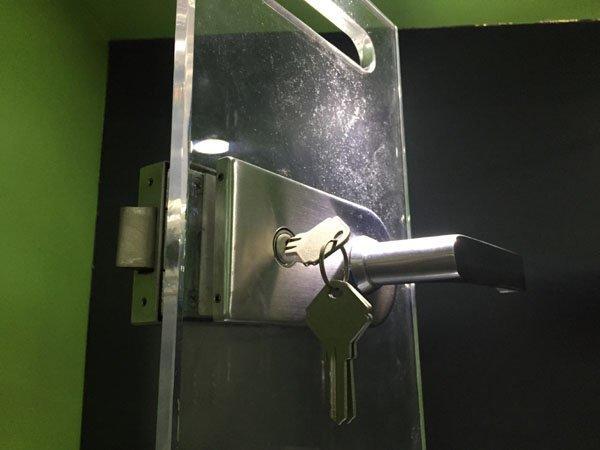 safe bathroom glass door lock brass factory direct supply for doors-1