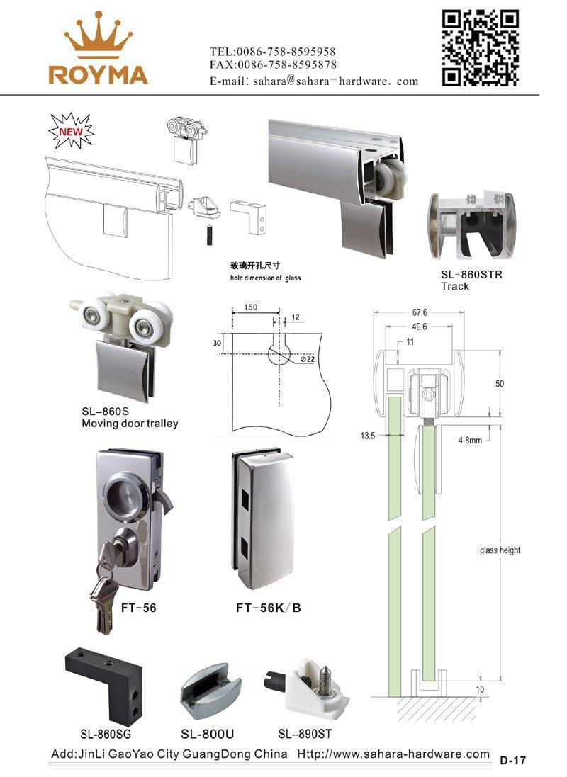 SAHARA Glass HARDWARE stainless steel cover glass door lock supplier for doors-2