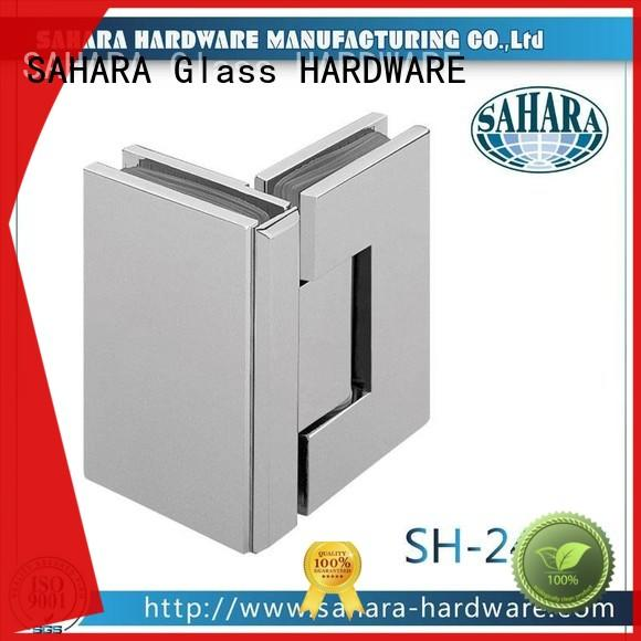 SAHARA Glass HARDWARE durable glass to glass door hinges stainless steel for doors