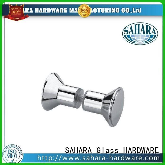 square delta shower knob customized for doors SAHARA Glass HARDWARE