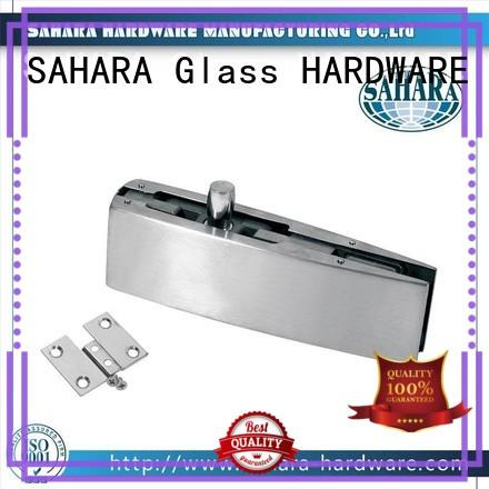 SAHARA Glass HARDWARE stainless steel cover patch fittings for glass doors supplier for home