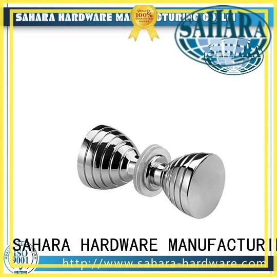 SAHARA Glass HARDWARE high quality brushed nickel shower knobs square for doors