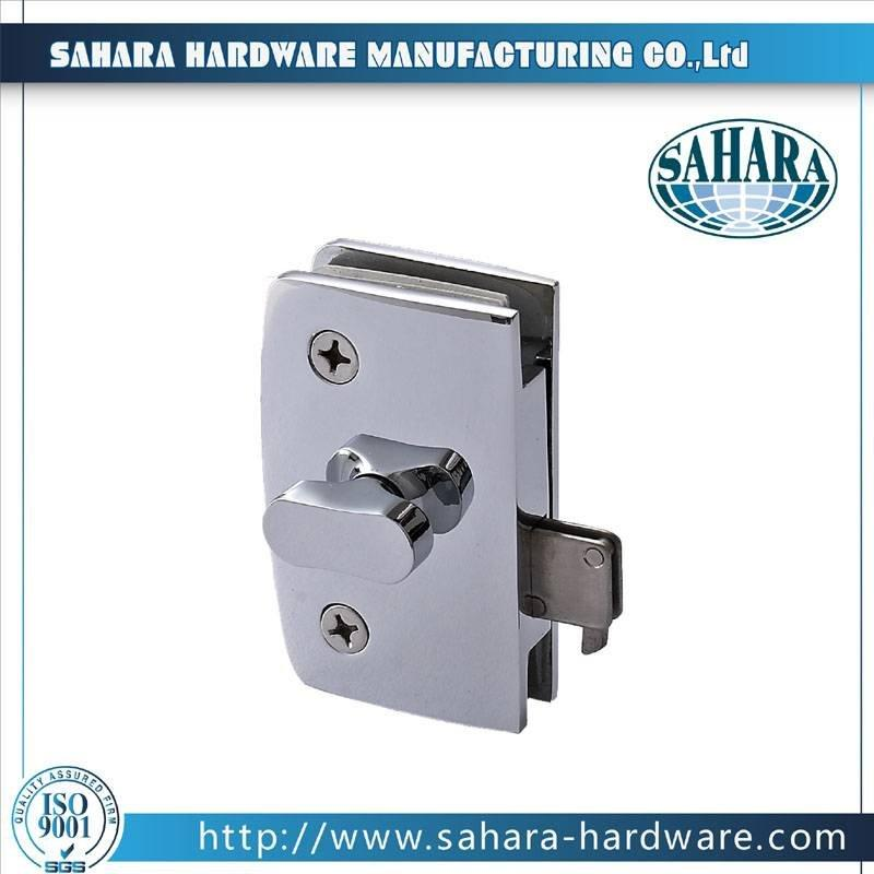 China Stainless Steel Brass Cylinders Glass Door Lock-SH-34-50