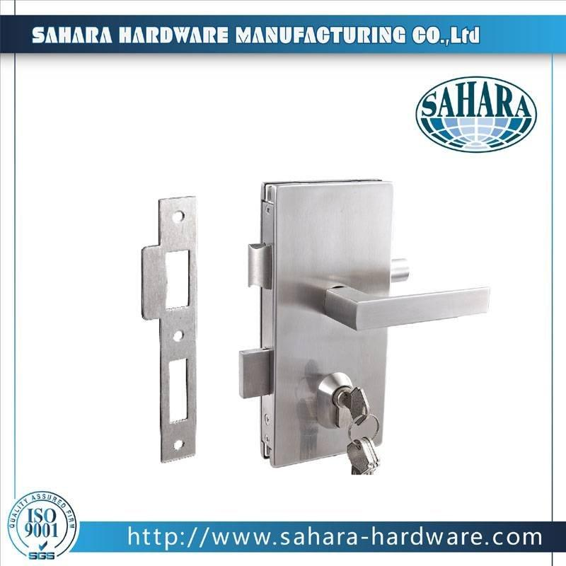 China Stainless Steel Brass Cylinders Glass Door Lock-FT-71