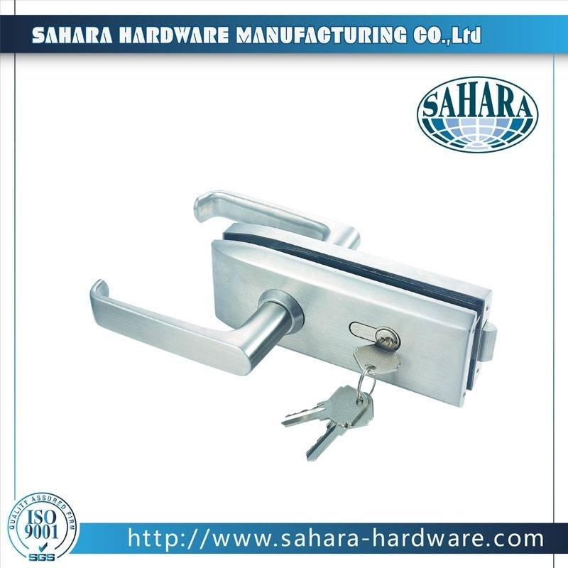 China Stainless Steel Brass Cylinders Glass Door Lock-FT-039