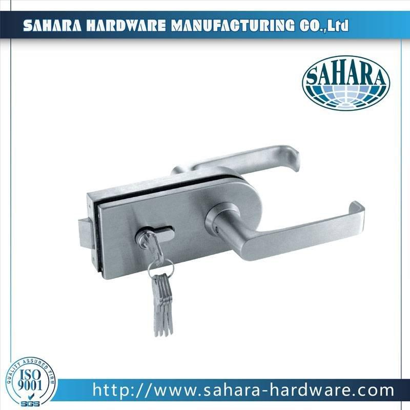 China Stainless Steel Brass Cylinders Glass Door Lock-FT-037