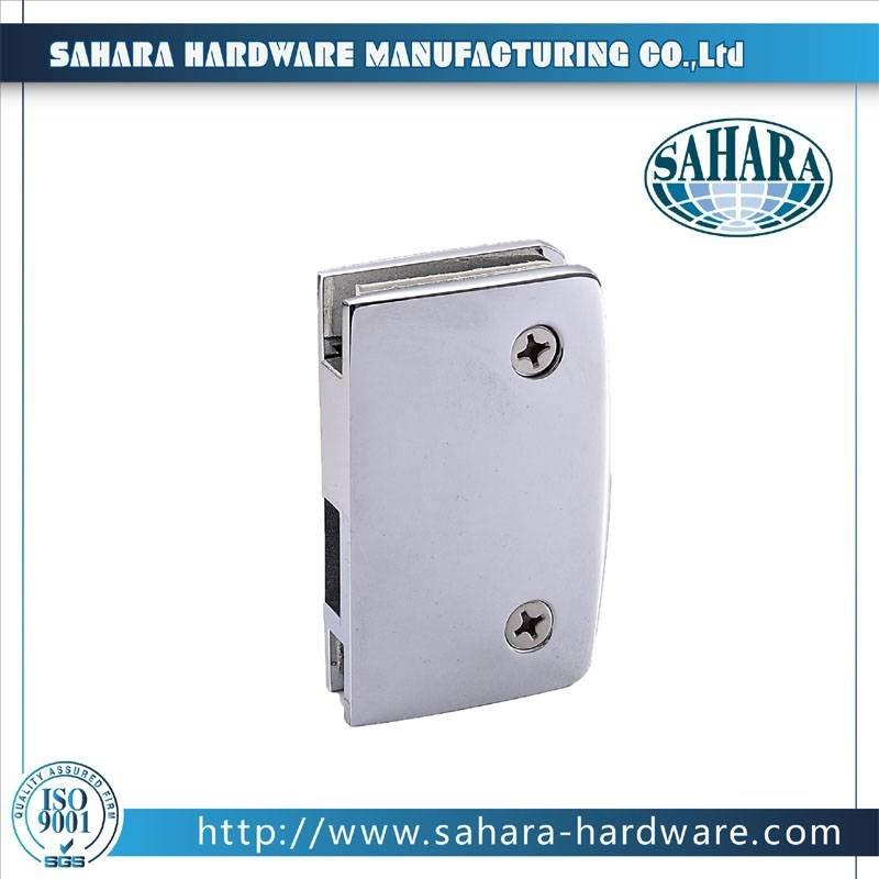 China Stainless Steel Brass Cylinders Glass Door Lock-SH-34-50K