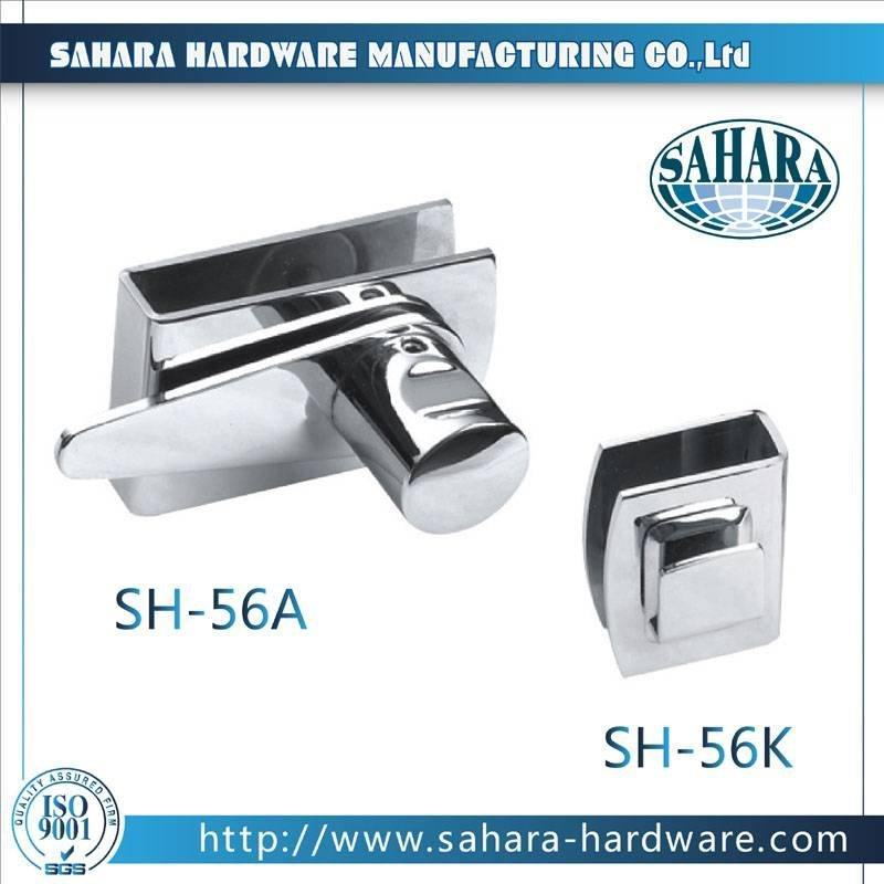 China Stainless Steel Brass Cylinders Glass Door Lock-SH-56A SH-56K