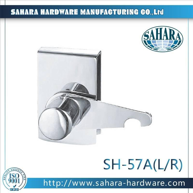 China Stainless Steel Brass Cylinders Glass Door Lock-SH-57A(L、R)