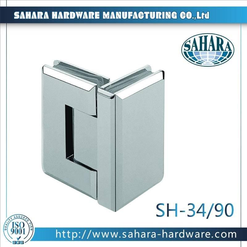 Frameless Bathroom Shower Door Hinges-SH-34-90