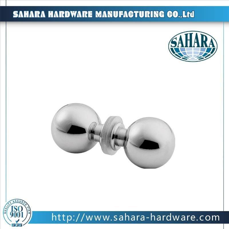 China Brass Round Glass Shower Door Knob-SH-752