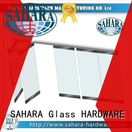 frameless pneumatic cylinder manufacturers stainless steel for hotel SAHARA Glass HARDWARE