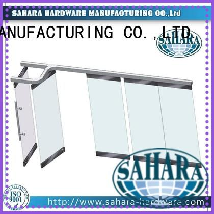 China folding glass walls door glass SAHARA Glass HARDWARE Brand