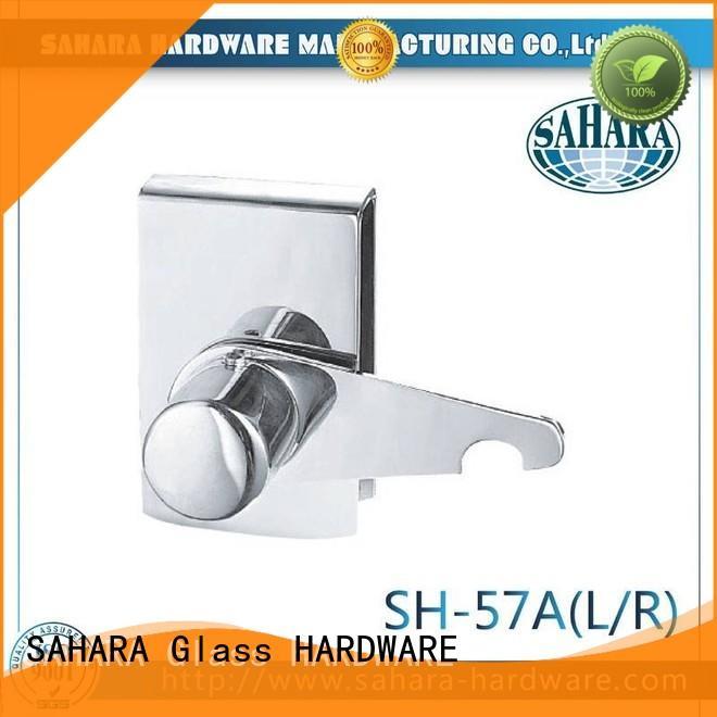 stainless steel cover glass door lock wholesale for doors SAHARA Glass HARDWARE