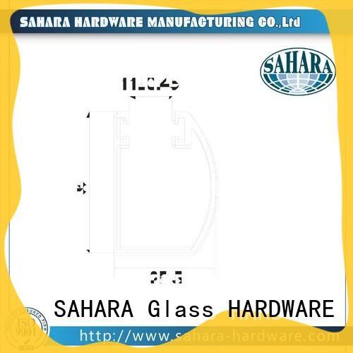 stainless steel frameless glass accessories brass for doors SAHARA Glass HARDWARE