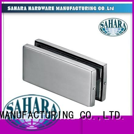 SAHARA Glass HARDWARE Brand patch hydraulic glass door patch fitting Stainless steel cover factory