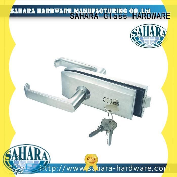 SAHARA Glass HARDWARE stainless steel cover bathroom glass door lock factory direct supply for doors